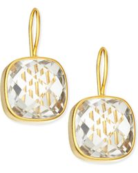 Dina Mackney - Clear Quartz 19K Gold Vermeil Drop Earrings - Lyst