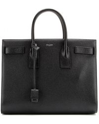 Saint Laurent Sac De Jour Textured Leather Tote - Lyst
