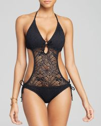 Ralph Lauren Polo Crochet Monokini One Piece Swimsuit - Lyst