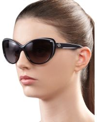 Gucci Round Cat Eye Sunglasses - Lyst