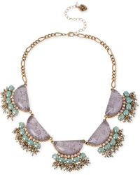 Betsey Johnson Gold-Tone Star And Cloud Cabochon Frontal Necklace - Lyst