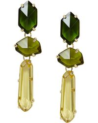 BCBGMAXAZRIA Faceted Ombrestone Earrings - Lyst