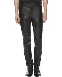 Gucci Leather Skinny Pants - Lyst