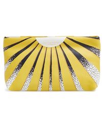 Burberry Leather Clutch - Lyst