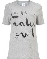 Zoe Karssen | Let's Make Out Boyfriend T-shirt | Lyst
