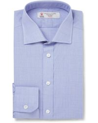 Turnbull & Asser Blue Prince Of Wales Check Cotton Shirt - Lyst