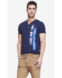 Express Henley Graphic Tee - Nyc - Lyst