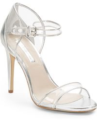 BCBGeneration Jakalyn Metallic Ankle-Strap Sandals - Lyst