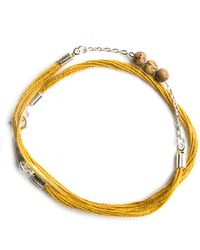 Lennebelle Wrap Bracelet with Picture Jasper Beads - Lyst