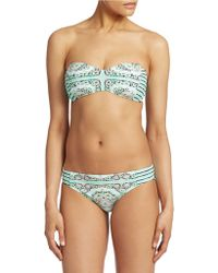 Nanette Lepore Printed Bandeau Bikini Top - Lyst