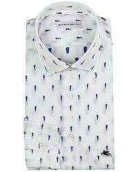 Etro Shirt Mercurio Jaquard white - Lyst