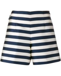 Moncler | Silk Striped A-line Shorts | Lyst