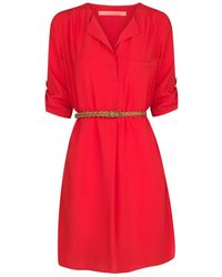 Mango Vneck Dress - Lyst