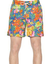 Ralph Lauren Blue Label Printed Nylon Swimming Shorts - Lyst