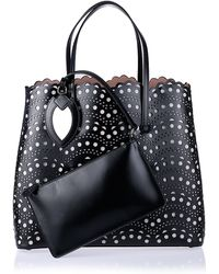 Alaïa Black Cutout Tote Bag - Lyst