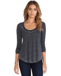 Chaser Tri-blend Knot Back Long Sleeve Tee - Lyst