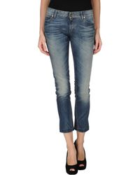 Gucci Blue Denim Pants - Lyst
