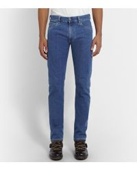 Canali Regular-fit Stretch-denim Jeans - Lyst