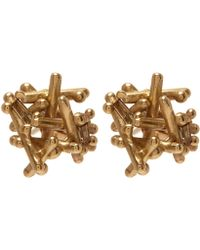 Ruth Tomlinson - Gold Champagne Diamond Stud Earrings - Lyst