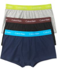 Calvin Klein Mens Cotton Stretch Low-rise Trunks 3-pack - Lyst