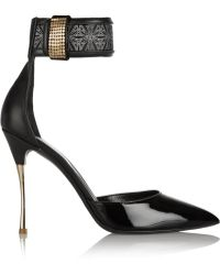 Nicholas Kirkwood Leather And Patent-Leather Pumps - Lyst