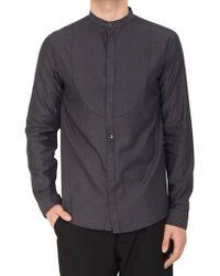 Balmain Mandarin-Collar-Shirt - Lyst