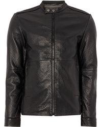 Calvin Klein | Nook Leather Jacket | Lyst