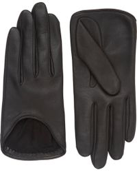 Rag & Bone Lambskin Moto Gloves black - Lyst