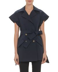 Thakoon Doublebreasted Capsleeve Trench Coat - Lyst
