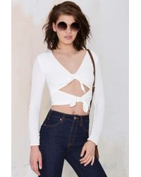 Nasty Gal For Love And Lemons Mai Tai Cutout Top - Lyst