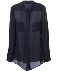 Emporio Armani Textured Blazer - Lyst