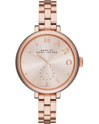 Marc By Marc Jacobs Women'S Sally Rose Gold Ion-Plated Stainless Steel Bracelet Watch 36Mm Mbm3364 - Lyst