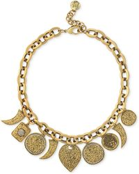 Vince Camuto - Gold-tone Crystal Charm Necklace - Lyst