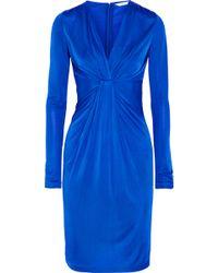 Diane Von Furstenberg Wrapeffect Satinjersey Dress - Lyst