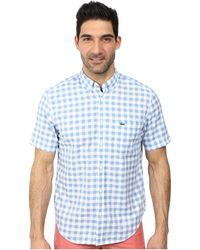Lacoste Poplin Short Sleeve Bd Gingham Shirt blue - Lyst