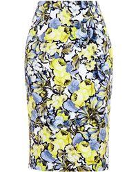 Erdem Jardim Cotton Skirt - Lyst