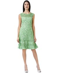 Adrianna Papell Plus Lace Cap Sleeve Fit Flare Dress - Lyst