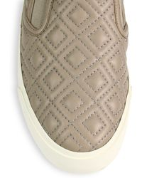 Tory Burch Jesse Quilted Leather Slipon Sneakers - Lyst