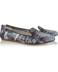 Charles Philip Shanghai Lizzette Printed Canvas Loafers - Lyst