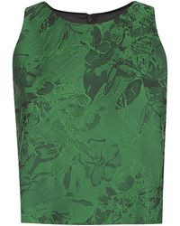 Alice + Olivia Floral Textured Crop Top - Lyst