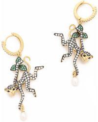 Jarin K - Dangling Monkey Earrings - Lyst