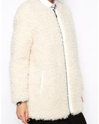 ELEVEN PARIS | Flavy Coat In Fluffy Boucle | Lyst
