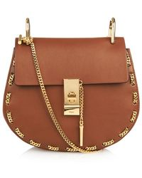 Chloé Mini Chain Drew Bag gold - Lyst