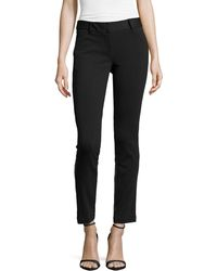 Laundry by Shelli Segal Ponte/Faux-Leather Skinny Pants - Lyst