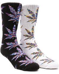 Huf - 2-pack Melange Plantlife Crew Socks - Lyst