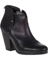 Rag & Bone Margot Ankle Boot Black Leather - Lyst