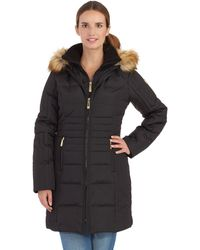 Vince Camuto Bib Accented Puffer Coat - Lyst