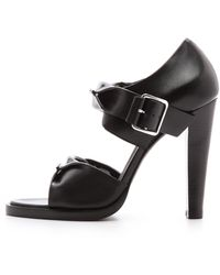 Alexander Wang Kai Rubberized Sandals  Black - Lyst