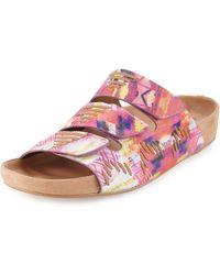 Cynthia Vincent - Farcia Printed Slip-on Sandal - Lyst