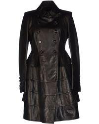 Burberry Prorsum Black Full-length Jacket - Lyst